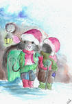 The Wind in the Willow Christmas illustration by SulaimanDoodle