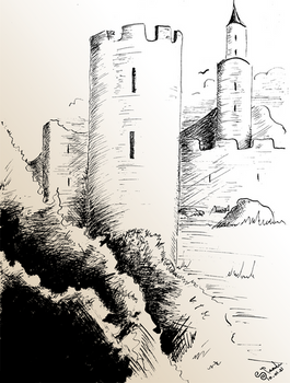 Castle ink drawing 11/01/2021