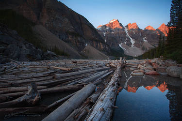 Moraine Sunrise by JaclynTanemura