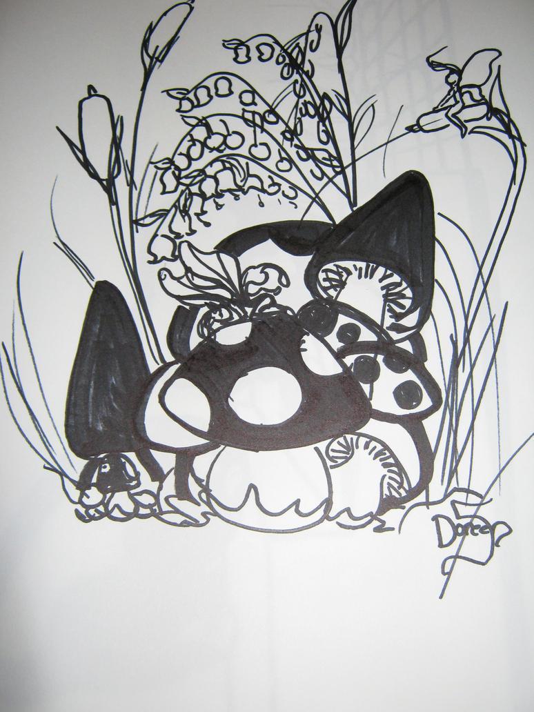 Magic Mushroom Drawings Mushroom Drawings Trippy