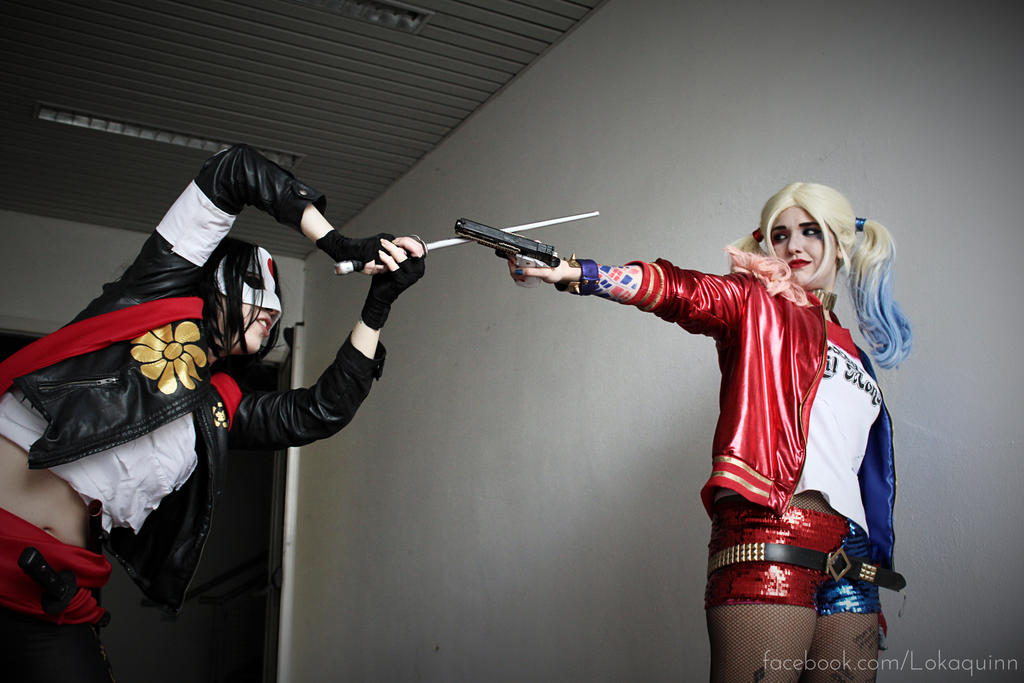 Harley Quinn and Katana Suicide Squad Cosplay by arydiabolika