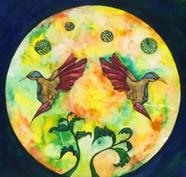 Humming birds 1 by MIYUKITANABE