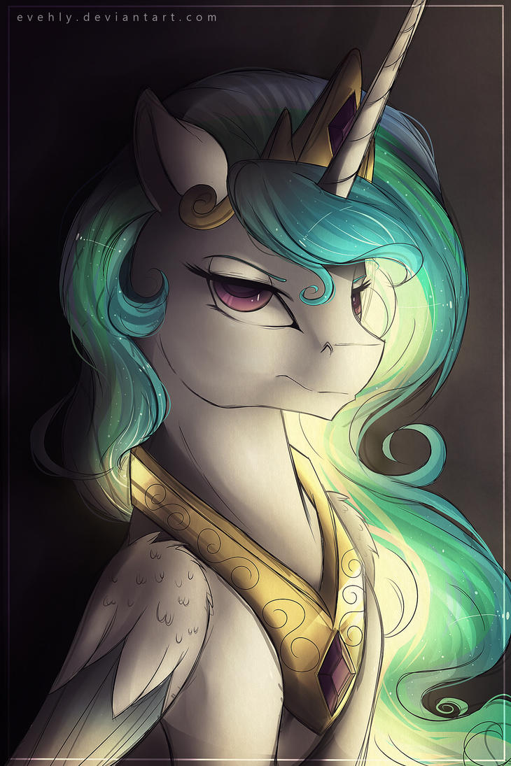 a_less_than_amused_celestia_by_evehly-d85wkii.jpg