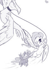 Walking The Pet Phoenix by Evehly