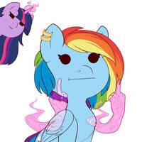 Rainbow Dash the Rainbow Jerk by Evehly