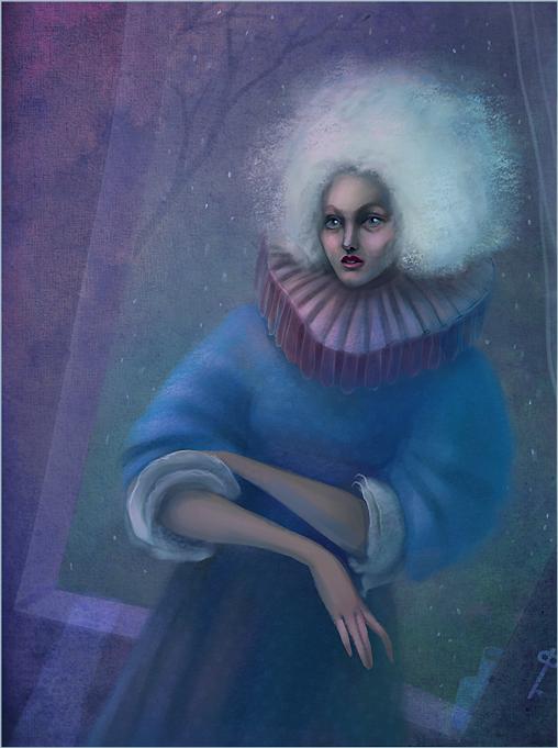 Lady in blue by Osinka