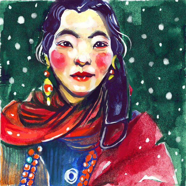 Tibet Girl by Osinka