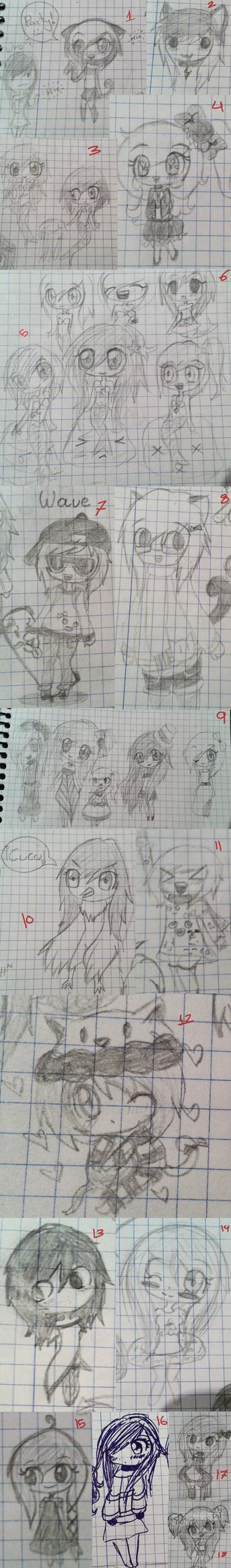 Bocetos y dibujos 001 by Espeloka