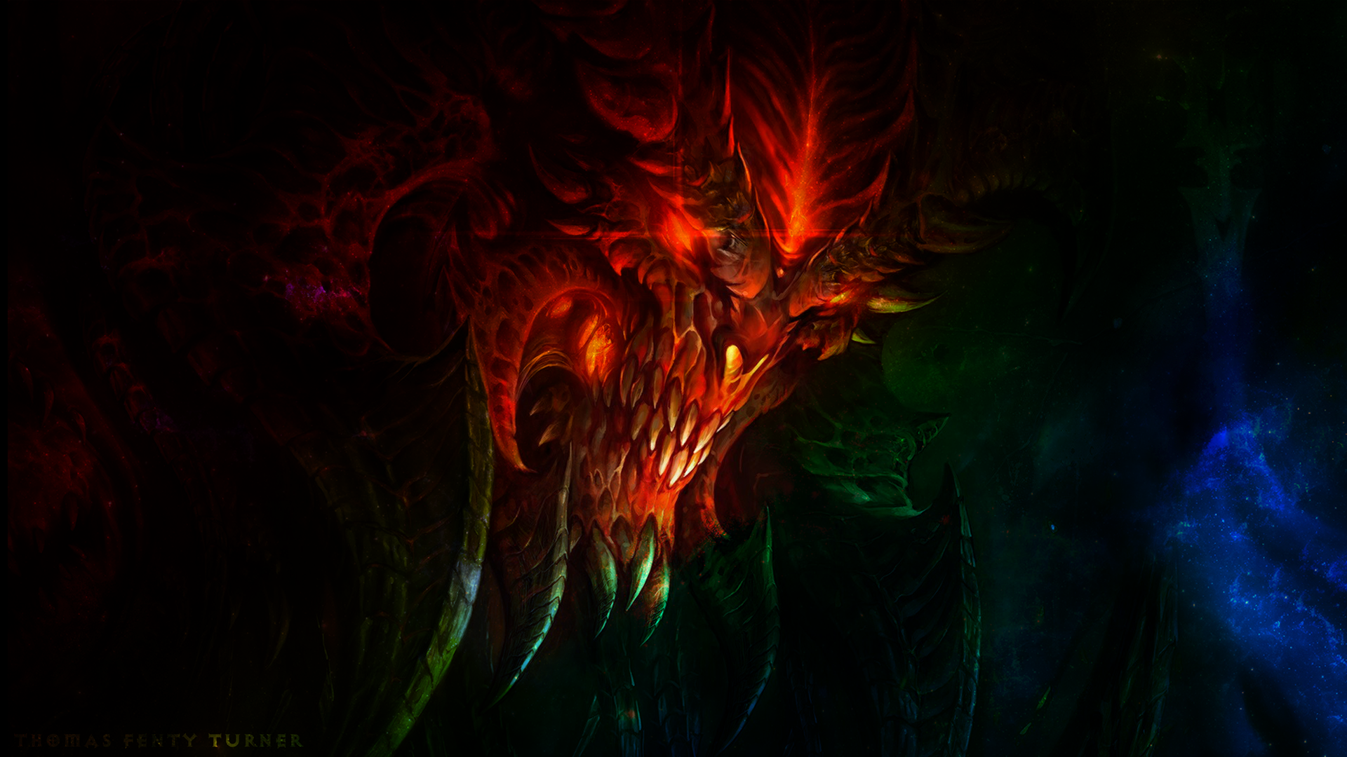 Diablo 3 Wallpaper 1920x1080: Diablo 3 Galaxy Wallpaper 1080P 1920x1080 By