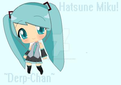 Hatsune Miku Chibi! by TheDerpySnowGirl