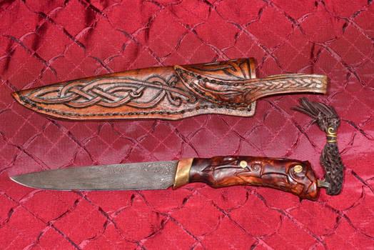 Bladesmith Trade Knife and Sheath 4