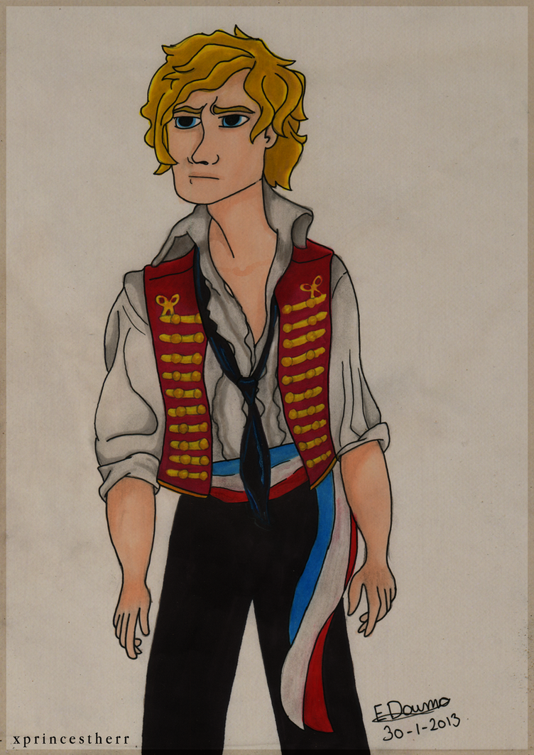 Enjolras - Cartoon by xPrincEstherr