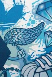 Detail of Adidas graffiti wall by Turbo-S2K