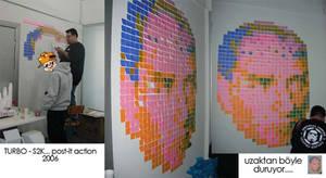 Post-it mosaic Ataturk by Turbo-S2K