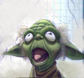 Astonished Yoda by rakufordevian