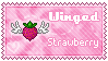 Stamp: Winged Strawberry by L-mon