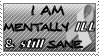 stamp_ mentally ill and sane (ribbon version) 02 by rainbow-heron