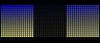 16x16_HSL_Series: Blue-Yellow.FF.Triptych by rainbow-heron