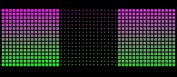 16x16_HSL_Series: Magenta-Green.FF.Triptych by rainbow-heron