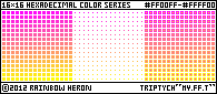 16x16_HSL_Series: Magenta-Yellow.FF.Triptych by rainbow-heron