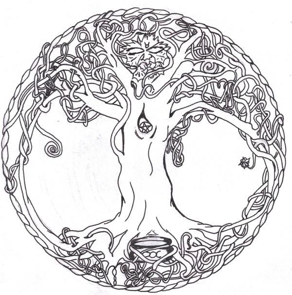 Celtic Tree of Life Drawings