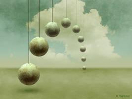 Round, hanging Stones by Pixelnase