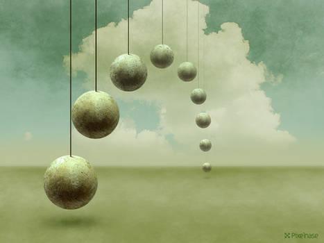 Round, hanging Stones