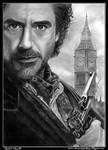Drawing Sherlock Holmes (Robert Downey Jr.)