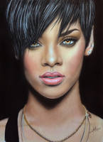 Pastel Painting Rihanna by iSaBeL-MR