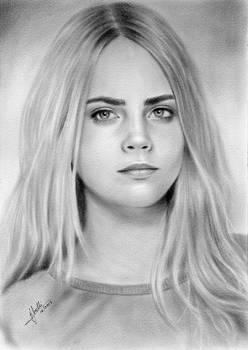 Cara Delenvigne Portrait