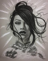 Charcoal portrait by iSaBeL-MR