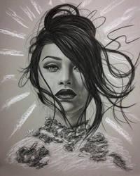 Charcoal portrait