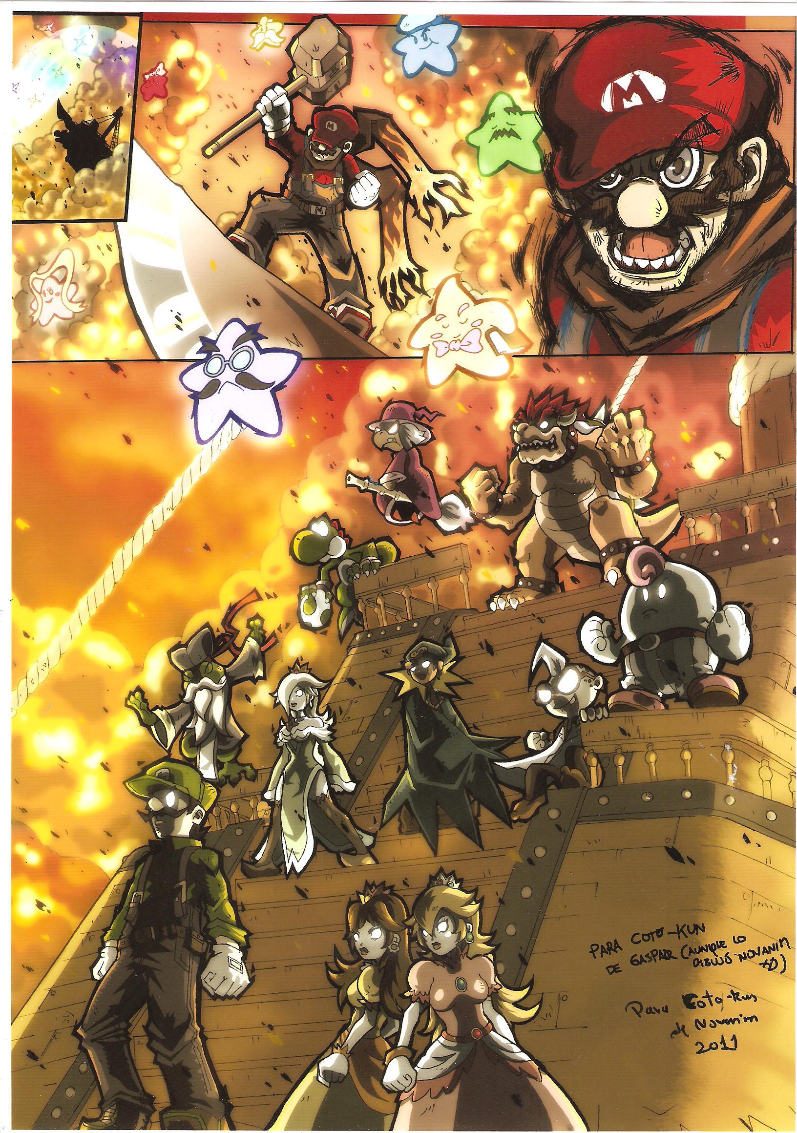 MARIO VS THE WORLD by cotokun