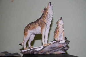 Wolves Statue by TR-Kurt