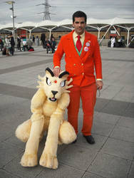 Giovanni, boss of TR with Persian fursuiter 2 by TR-Kurt
