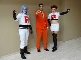 Giovanni with Jessie and James at AnimeCon NL by TR-Kurt