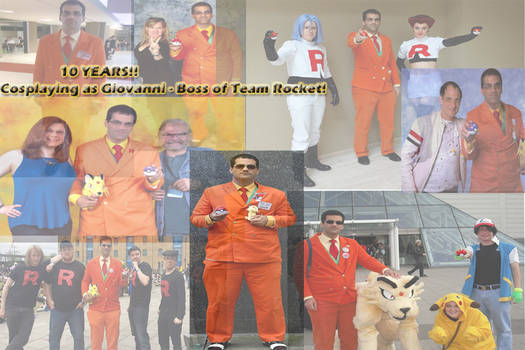 Giovanni - Boss of Team Rocket - Cosplay 10 years!