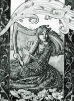 Spirits of Music: The Harp by Minimaid