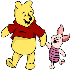 Pooh and Piglet (transparent) by CheddarBBQ