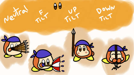 Waddle Dee Smash Moveset: Tilts (2/6) by CheddarBBQ