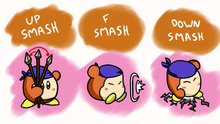 Waddle Dee Smash Moveset: Smashes (3/6) by CheddarBBQ
