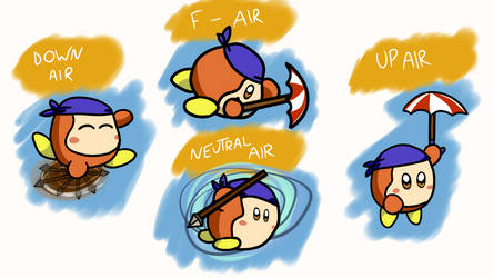 Waddle Dee Smash Moveset: Airs (4/6) by CheddarBBQ
