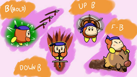 Waddle Dee Smash Moveset: Specials (5/6) by CheddarBBQ