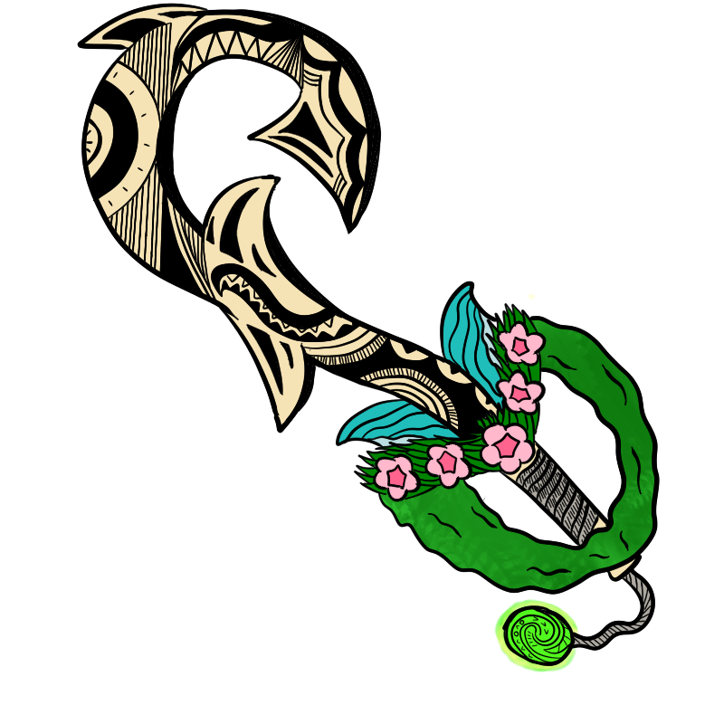 Ocean's Call: Moana Keyblade by CheddarBBQ