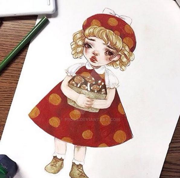 Mushroom Girl by piigss