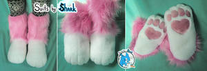 Indoor Chibi Fursuit Feetpaws -  FLAWED!