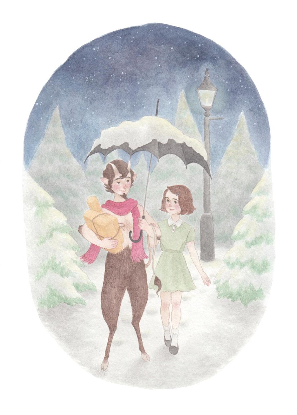 Lucy and Mr. Tumnus by HogwartsWizard on DeviantArt
