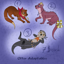 Otter adoptables - Set price (1/3 OPEN) by hinarin