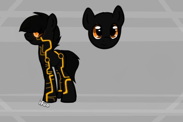 Tron Pony by EliteUnicorns