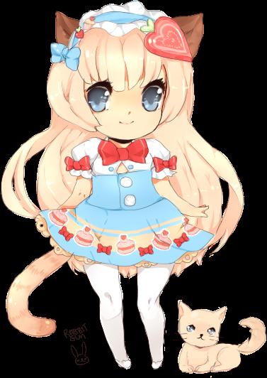 strawberry kitten by rabbitgun
